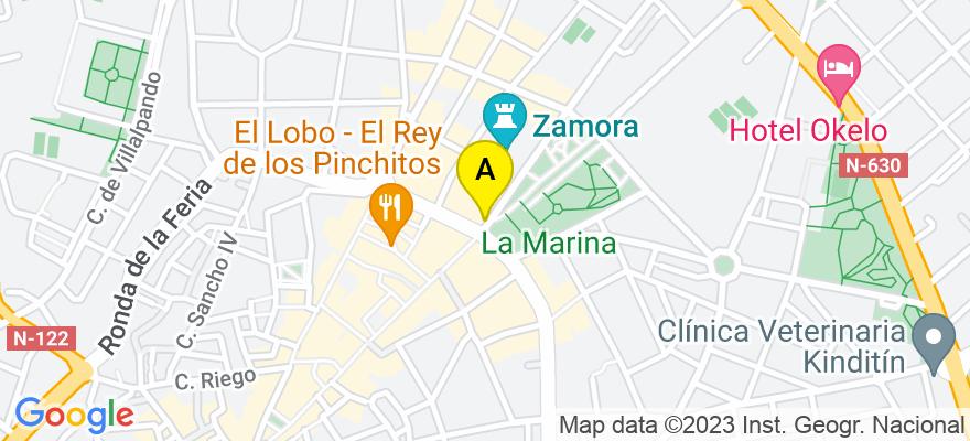 situacion en el mapa de . Direccion: Avda. Alfonso IX, 2- 3º, 49013 Zamora. Zamora