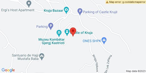 Google Map of Rruga Kala, Krujë, Αλβανία