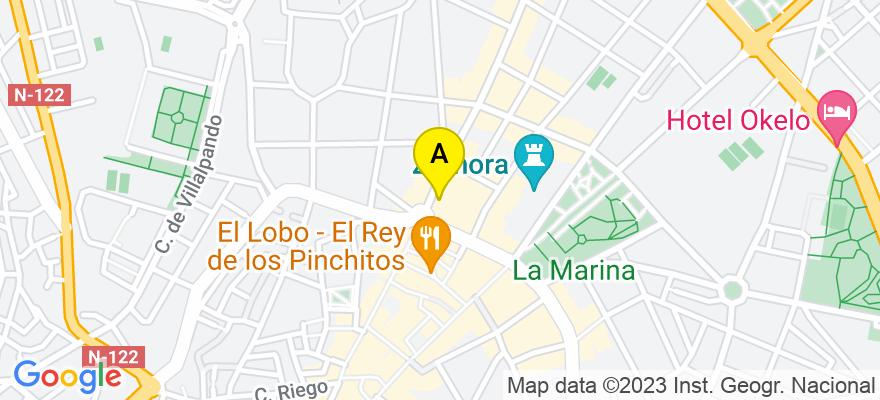 situacion en el mapa de . Direccion: AVD.VICTOR GALLEGO 2 1 A, 49009 Zamora. Zamora