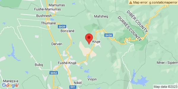 Google Map of Κρούγια, Αλβανία