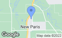Map of New Paris, IN