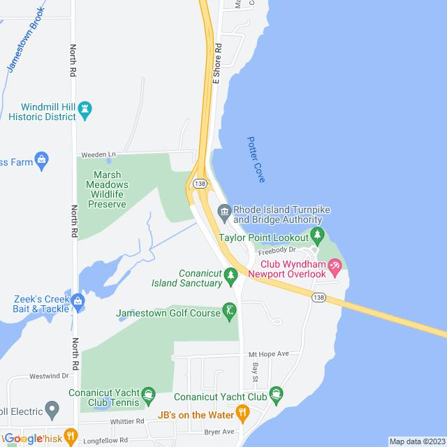 Map of RI (I 95) Turnpike