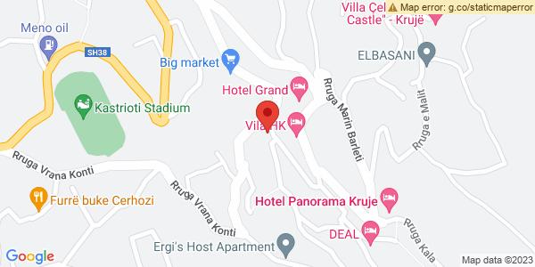 Google Map of Rruga Kryesore, Krujë, Αλβανία