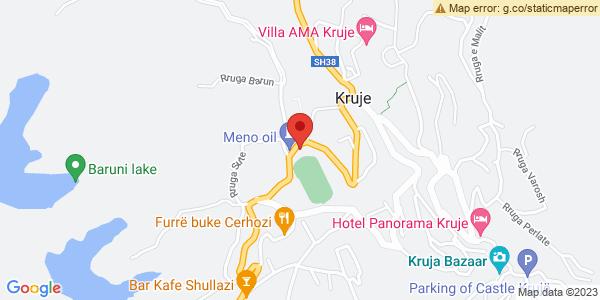 Google Map of Rruga Kryesore, Krujë, Albania