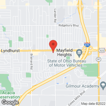 Map of Staples at 5950 Mayfield Road, Mayfield Heights, OH 44124