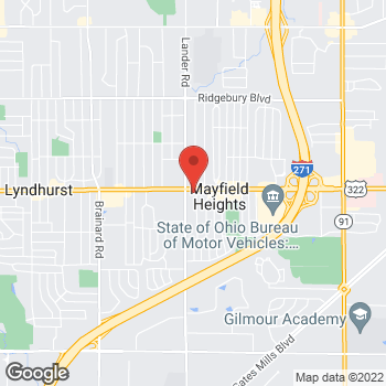 Map of Panera Bread at 6036 Mayfield Road, Mayfield Heights, OH 44124