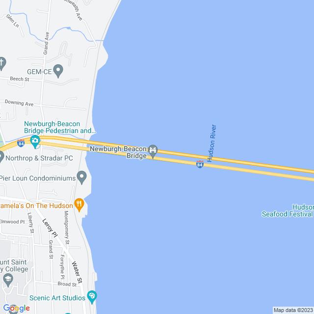 Map of Newburgh Beacon Bridge