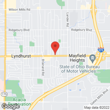Map of Check `n Go Mayfield Road at 5815-A Mayfield Road, Cleveland, OH 44124
