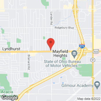 Map of Arby's at 5993 Mayfield Rd, Mayfield Heights, OH 44124