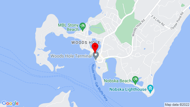 Google Map of 68 Water St, Woods Hole, MA 02543