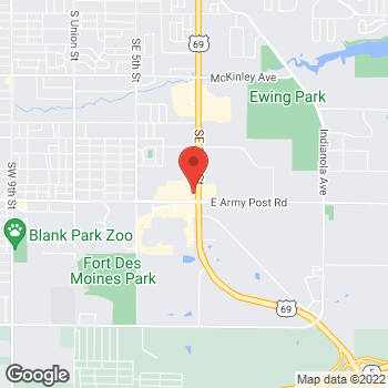 Map of Arby's at 6300 Se 14th Street, Des Moines, IA 50320