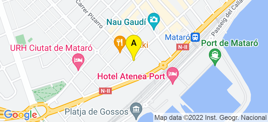 situacion en el mapa de . Direccion: calle germans thos i codina 47, 08302 Mataró. Barcelona
