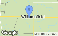 Map of Williamsfield, OH