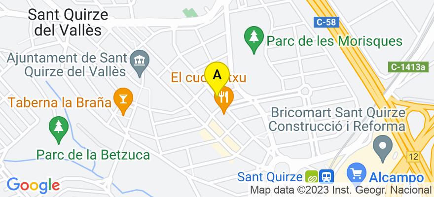 situacion en el mapa de . Direccion: Vallcorba, 08192 Sant Quirze del Vallès. Barcelona