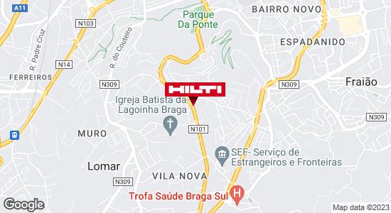 Get directions to Loja Hilti de Braga