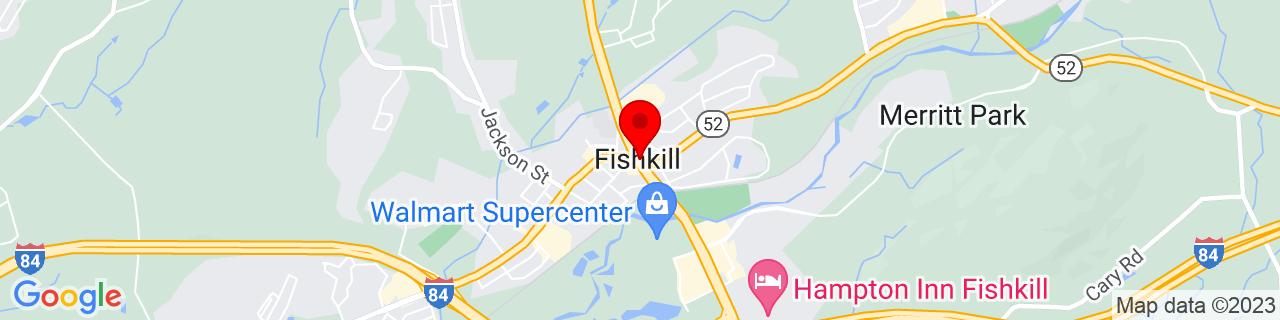 Google Map of 41.535555555555554, -73.89888888888889
