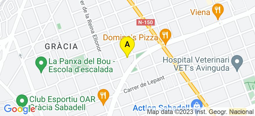 situacion en el mapa de . Direccion: C/ Sant Ferran 55, 08205 Sabadell. Barcelona