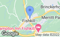 Map of Fishkill, NY