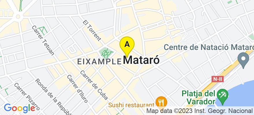 situacion en el mapa de . Direccion: Calle Santa Teresa, 43 1º, 08302 Mataró. Barcelona