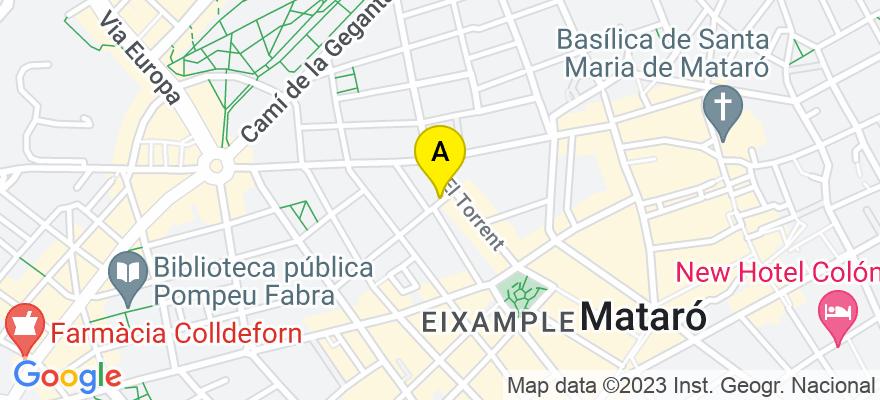 situacion en el mapa de . Direccion: C/Altafulla numero 8    3º-3ª, 08302 Mataró. Barcelona