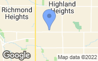 Map of Highland Heights, OH