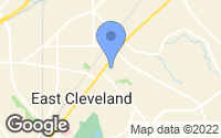 Map of East Cleveland, OH