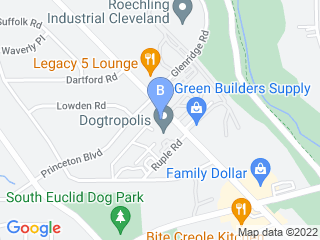 Map of Greenmont Veterinary Hospital Dog Boarding options in Cleveland | Boarding