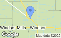 Map of Windsor, OH