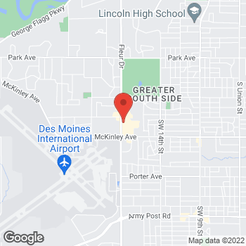 Map of Panera Bread at 4519 Fleur Drive, Des Moines, Iowa 50321