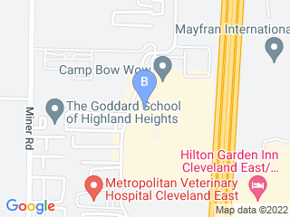 Map of Camp Bow Wow Dog Boarding Highland Heights Dog Boarding options in Highland Heights | Boarding