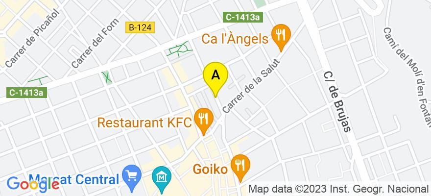 situacion en el mapa de . Direccion: C/ Convent, 21, 08202 Sabadell. Barcelona