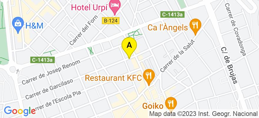 situacion en el mapa de . Direccion: C/Garcilaso nº 3, 1º- 1ª, 08201 Sabadell. Barcelona