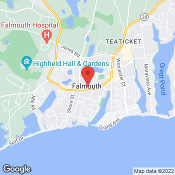 Map of Rite Aid at 520 Main Street, Falmouth, MA 02540
