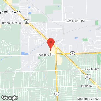 Map of Hair Cuttery at 1701 N Larkin Ave, Crest Hill, IL 60403