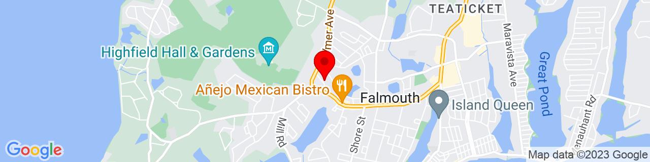 Google Map of 41.5553535, -70.6196686
