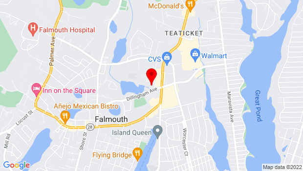 Google Map of 310 Dillingham Avenue, Falmouth, MA 02540