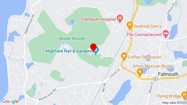 Google Map of 58 Highfield Drive, Falmouth, MA 02541