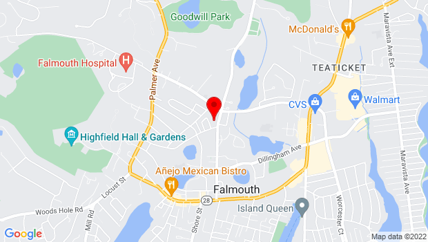 Google Map of 270 Gifford Street, Falmouth, MA 02540