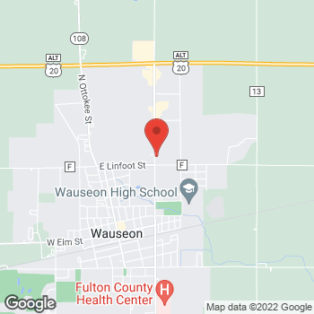 Map of Arby's at 1058 N Shoop Ave, Wauseon, OH 43567-1821