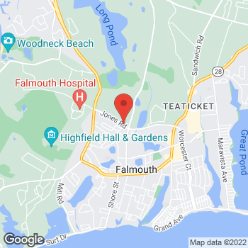 Map of Garry L. Brake, MD at 210 Jones Road, Falmouth, MA 02540
