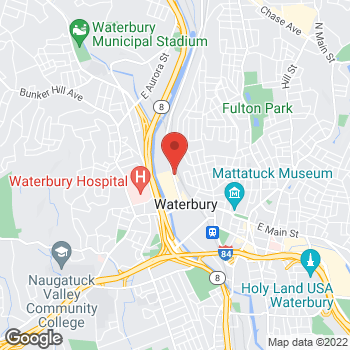 Map of Burger King at 198 Thomaston Ave, Waterbury, CT 06702