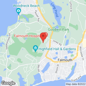 Map of Michael Messina, MD at 21 Bramblebush Park, Falmouth, MA 02540