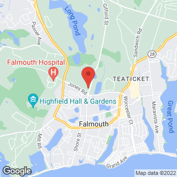 Map of Joseph P. Cobb, MD at 332 Gifford Street, Falmouth, MA 02540