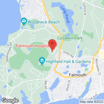Map of William Vranos, MD at 5 Bramblebush Drive, Falmouth, MA 02540