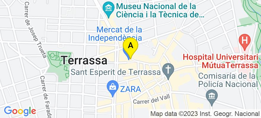 situacion en el mapa de . Direccion: carrer vinyals nº43, 08221 Terrassa. Barcelona