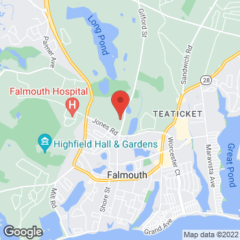 Map of Andrew Markwith, MD at 360 Gifford Street, Falmouth, MA 02540