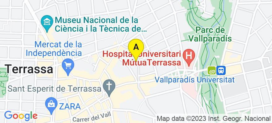 situacion en el mapa de . Direccion: Sant Pau, 25 2º 3ª, 08221 Terrassa. Barcelona
