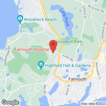 Map of Paul Bouche, MD at 100 Ter Heun Drive, Falmouth, MA 02540