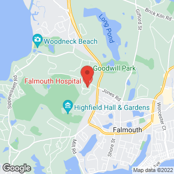 Map of Lindsey M. Korepta, MD, FACS, RPVI at 90 Ter Heun Drive, Suite 303, Falmouth, MA 02540