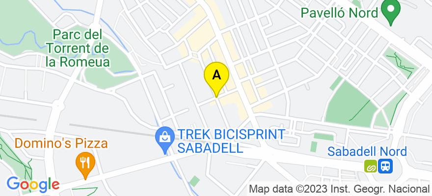 situacion en el mapa de . Direccion: Calle Andorra, 08207 Sabadell. Barcelona